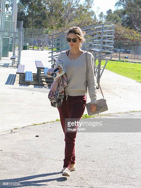 Alessandra Ambrosio is seen on February 02 2016 in Los Angeles California