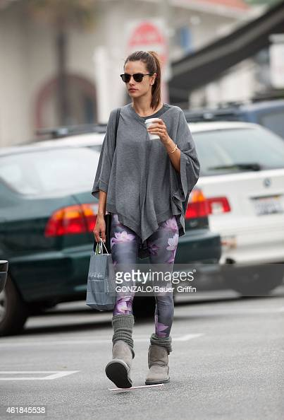 Alessandra Ambrosio is seen on January 20 2015 in Los Angeles California