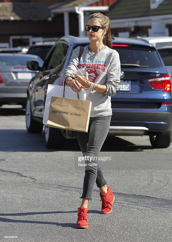 Alessandra Ambrosio is seen on January 25, 2014 in Los Angeles, California.