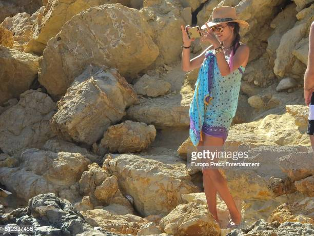 Alessandra Ambrosio is seen on July 10 2017 in Ibiza Spain