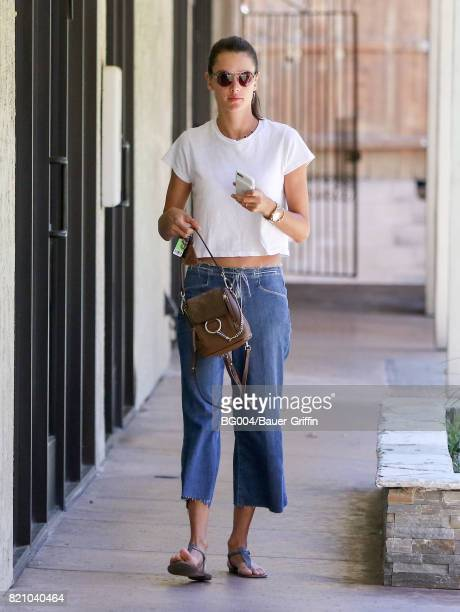 Alessandra Ambrosio is seen on July 22 2017 in Los Angeles California