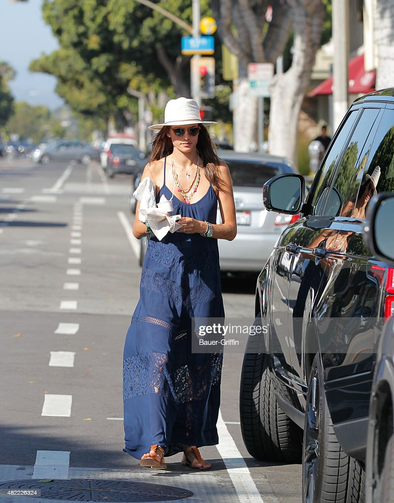 Alessandra Ambrosio is seen on July 28 2015 in Los Angeles California