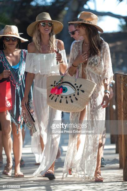 Alessandra Ambrosio is seen on July 8 2017 in Ibiza Spain