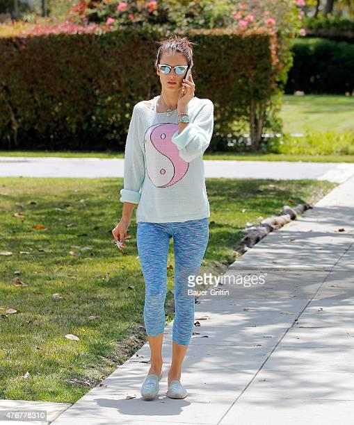Alessandra Ambrosio is seen on June 11 2015 in Los Angeles California