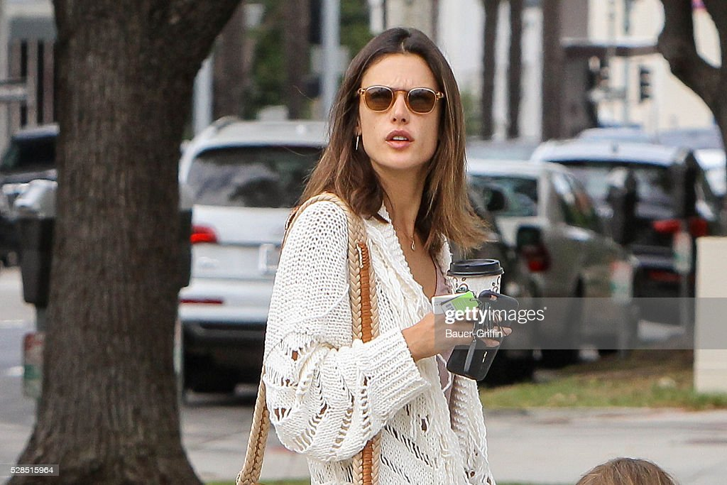Alessandra Ambrosio is seen on May 05, 2016 in Los Angeles, California.