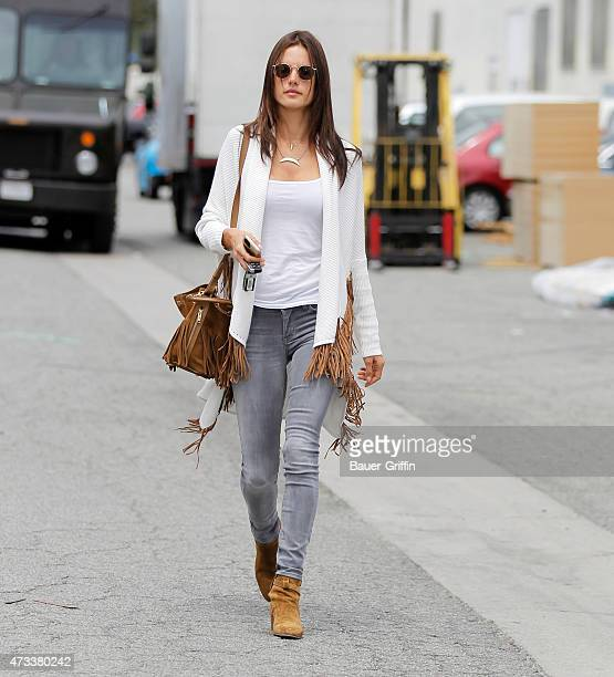 Alessandra Ambrosio is seen on May 14 2015 in Los Angeles California