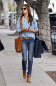 Alessandra Ambrosio is seen shopping on December 17 2013 in Los Angeles California
