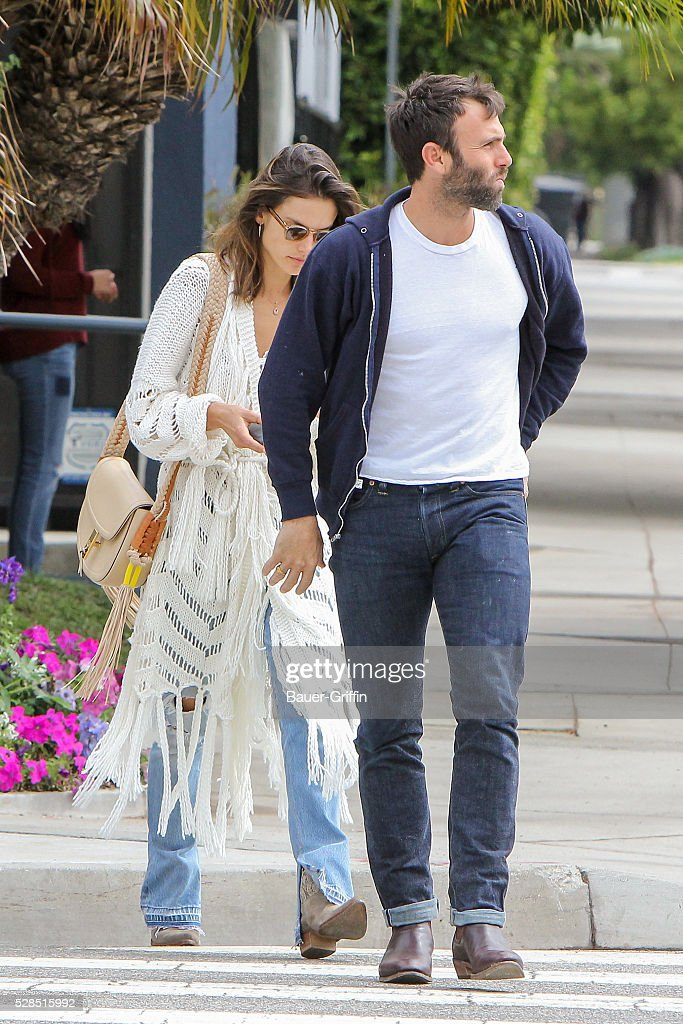 Alessandra Ambrosio is seen with her husband Jamie Mazur on May 05, 2016 in Los Angeles, California.