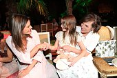 Alessandra Ambrosio Milla Jovovich and her daughter Ever Gabo Anderson during the Marc Cain fashion show spring/summer 2017 at CITY CUBE Panorama Bar...
