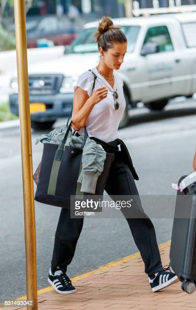 Alessandra Ambrosio on August 14 2017 in New York City