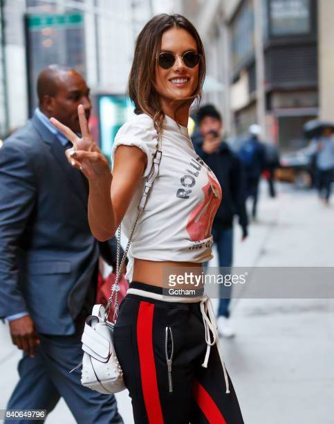 Alessandra Ambrosio on August 29 2017 in New York City