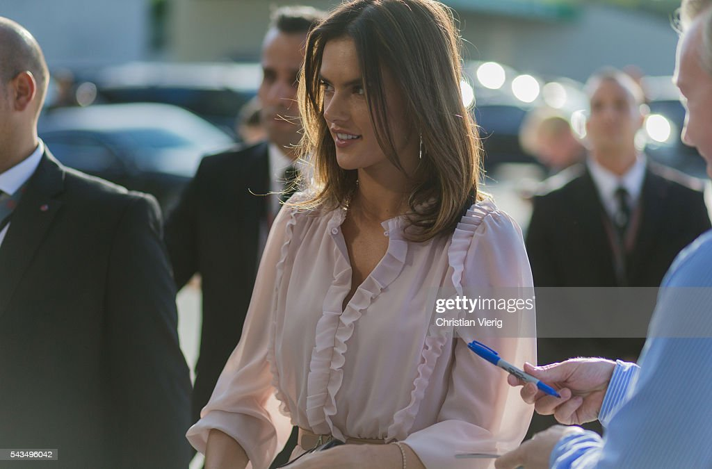 <a gi-track='captionPersonalityLinkClicked' href=/galleries/search?phrase=Alessandra+Ambrosio&family=editorial&specificpeople=203062 ng-click='$event.stopPropagation()'>Alessandra Ambrosio</a> outside Marc Cain during the Mercedes-Benz Fashion Week Berlin Spring/Summer 2017 on June 28, 2016 in Berlin, Germany.