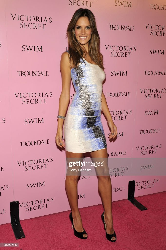 Alessandra Ambrosio poses for a picture at the 15th Anniversary of Victoria's Secret SWIM catalogue held at Trousdale on March 25, 2010 in Los Angeles, California.