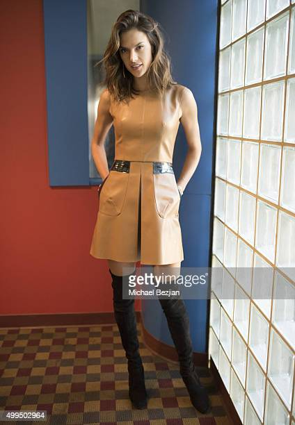 Alessandra Ambrosio poses for a portrait at The Lowdown with Diana Madison on December 1 2015 in Hollywood California