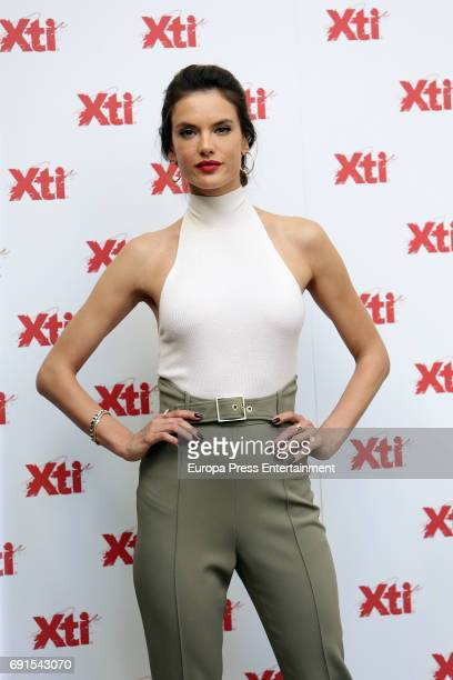 Alessandra Ambrosio presents 'Xti' 2017 shoes Summer New Collection on June 2 2017 in Madrid Spain