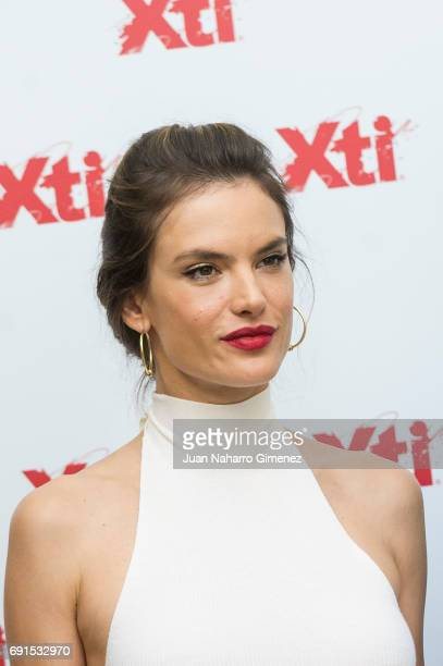 Alessandra Ambrosio presents Xti shoes 2017 summer collection at the Only You Hotel on June 2 2017 in Madrid Spain