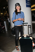 Alessandra Ambrosio seen at LAX on July 31 2014 in Los Angeles California