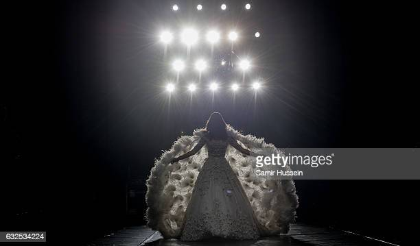 Alessandra Ambrosio walks the catwalk at the RalphRusso Haute Couture Spring Summer 2017 show as part of Paris Fashion Week on January 23 2017 in...