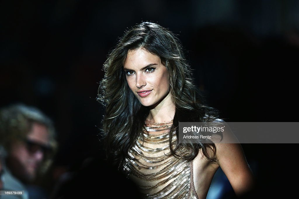 <a gi-track='captionPersonalityLinkClicked' href=/galleries/search?phrase=Alessandra+Ambrosio&family=editorial&specificpeople=203062 ng-click='$event.stopPropagation()'>Alessandra Ambrosio</a> walks the runway as part of amfAR's 20th Annual Cinema Against AIDS during The 66th Annual Cannes Film Festival at Hotel du Cap-Eden-Roc on May 23, 2013 in Cap d'Antibes, France.