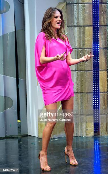 Alessandra Ambrossio attends 'El Hormiguero' TV show at Vertice 360 Studio on March 5 2012 in Madrid Spain