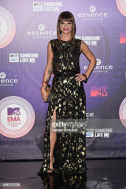 Alessandra Amoroso attends the MTV EMA's 2014 at The Hydro on November 9 2014 in Glasgow Scotland