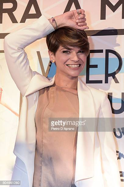 Alessandra Amoroso attends the Vivere A Colori by Alessandra Amoroso presentation on January 14 2016 in Milan Italy