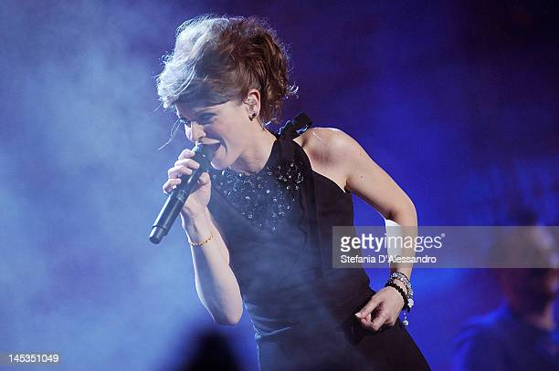 Alessandra Amoroso performs live during 2012 Wind Music Awards held at Arena of Verona on May 26 2012 in Verona Italy