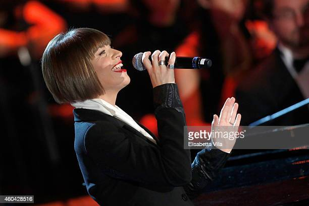 Alessandra Amoroso performs on stage during the Christmas Concert 2014 at Auditorium Conciliazione on December 13 2014 in Rome Italy