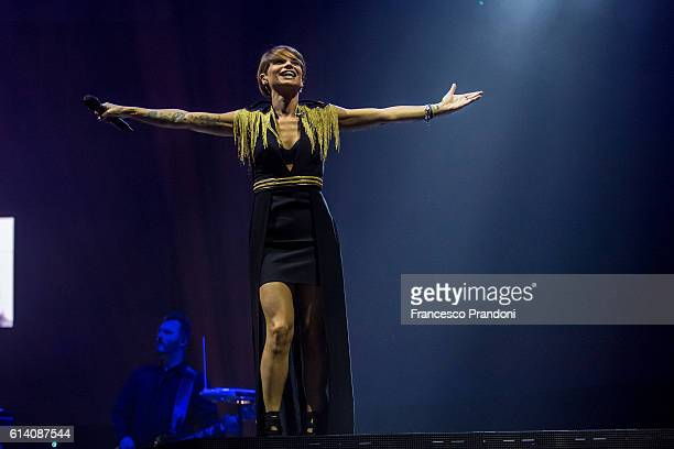 Alessandra Amoroso performs on stage on October 11 2016 in Milan Italy