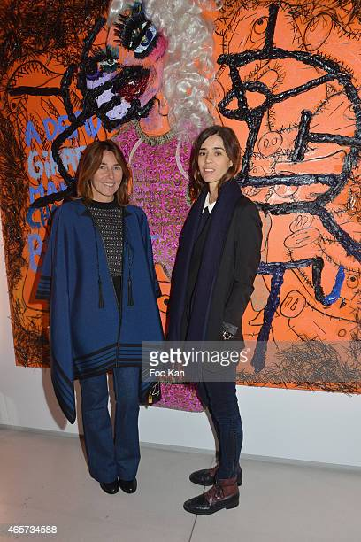 Alessandra Borghese and Alessandra d'Urso attend the Purple Thaddaeus Ropac Cocktail Party for Painter Bjarne Melgaard during Paris Fashion Week...
