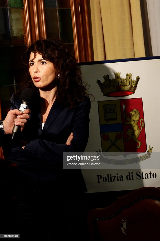 Alessandra Bucci, Police Commissioner of Genoa, attends a press conference on January 9, 2011 in Genoa, Italy. Carlo Trabona, a 74-year-old retired bricklayer, has shot dead two of his neighbours and then killed his wife, before shooting himself after being surrounded by the Police in Genoa. Police suspect Jealousy, over alleged infidelity by Trabona's wife, was the motive for the murders.