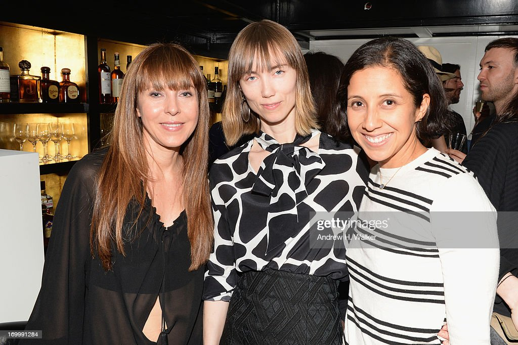 Alessandra Casadei, Anya Ziourova, and Karla Martinez attends Casadei dinner at Omar's, hosted by Julia Restoin Roitfeld and Cesare Casadei celebrating Resort 2014 at on June 5, 2013 in New York City
