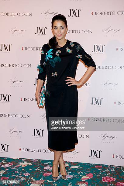Alessandra de Osma attends 'Roberto Coin' and 'Aguayo' jewelry party at Palacio de Santa Coloma on February 22 2016 in Madrid Spain