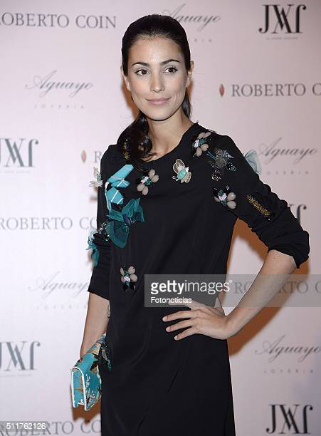 Alessandra de Osma attends the 'Roberto Coin' and 'Aguayo' jewelry party at the Italian Consulate on February 22 2016 in Madrid Spain