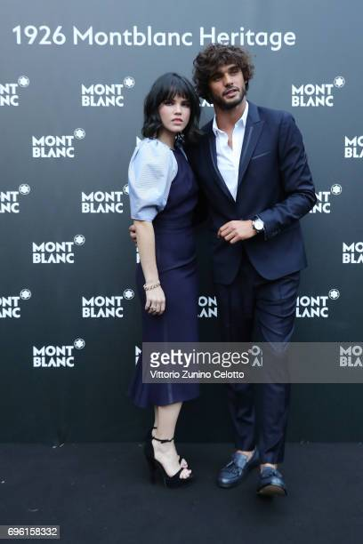 Alessandra Denegri and Marlon Luiz Teixeira attend '1926 Montblanc Heritage Launch event' on June 14 2017 in Florence Italy