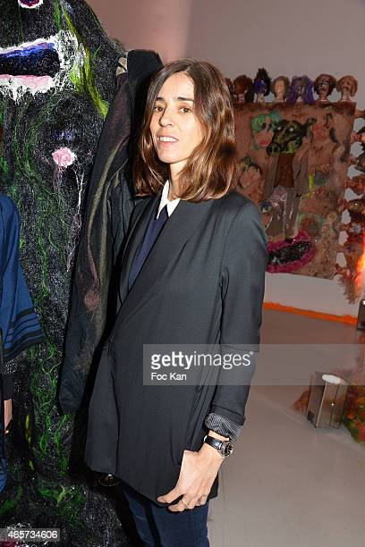 Alessandra d'Urso attends the Purple Thaddaeus Ropac Cocktail Party for Painter Bjarne Melgaard during Paris Fashion Week Womenswear Fall/Winter...