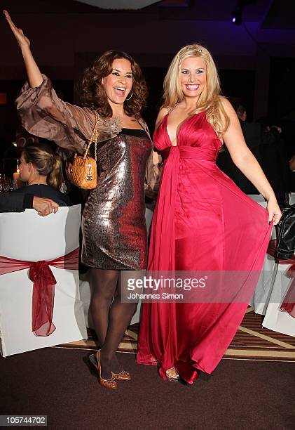 Alessandra Geissel and Gitta Saxx attend the Video Ni8ght 2010 at The Westin Grand on October 19 2010 in Munich Germany