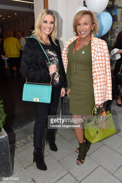 Alessandra Geissel and Julia Prillwitz during 'Marcell von Berlin Store Opening' on March 4 2017 in Munich Germany