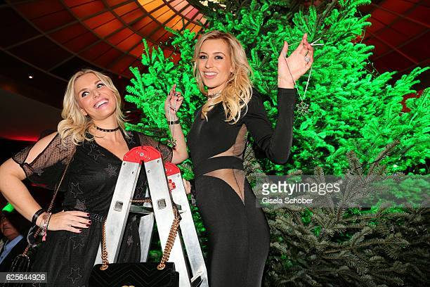 Alessandra Geissel and Verena Kerth during the christmas party at Hotel Vier Jahreszeiten Kempinski on November 24 2016 in Munich Germany