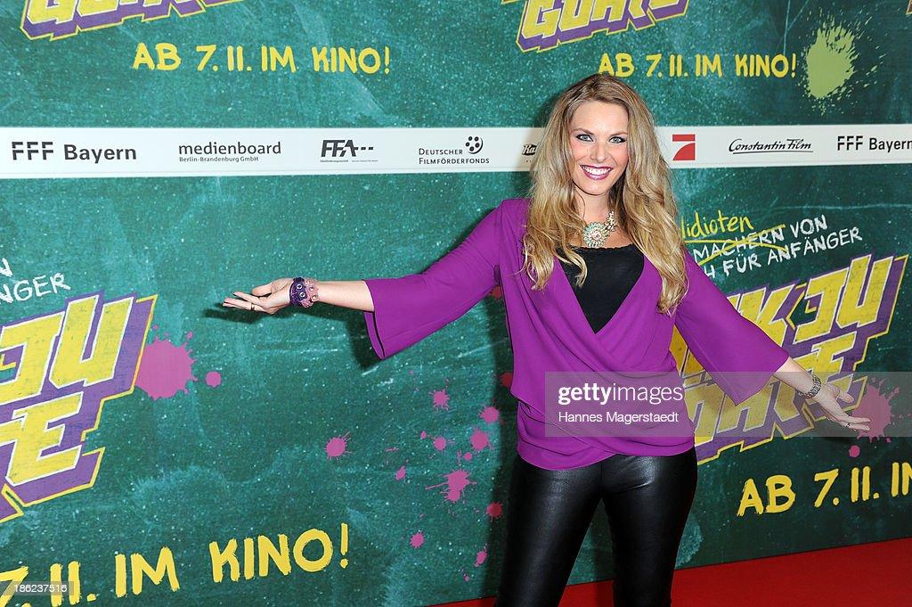 ÊAlessandra Geissel attend the premiere of the film 'Fack Ju Goehte' on October 29, 2013 in Munich, Germany.