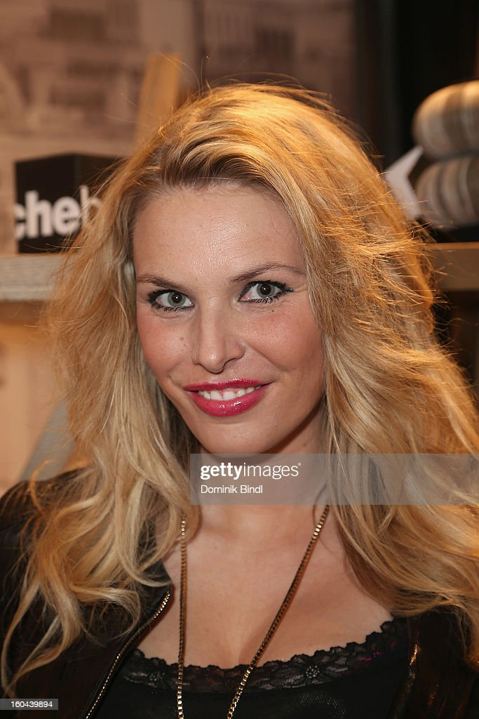Alessandra Geissel attends the opening of the Roche Bobois shop on January 31, 2013 in Munich, Germany.
