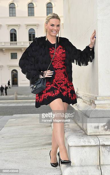 Alessandra Geissel during the 10th anniversary party of the designer label Joana Danciu at Rocca Riviera on August 11 2016 in Munich Germany