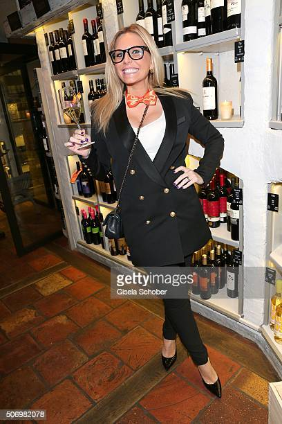Alessandra Geissel during the Smoking Cocktail at Kaefer Atelier on January 26 2016 in Munich Germany
