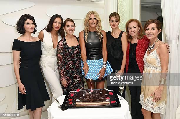 Alessandra MartinesMadalina Ghenea Caterina Murino Tiziana Rocca Paola CortellesiRosetta Sannelli and Chantal Sciuto attend Tiziana Rocca Birthday...