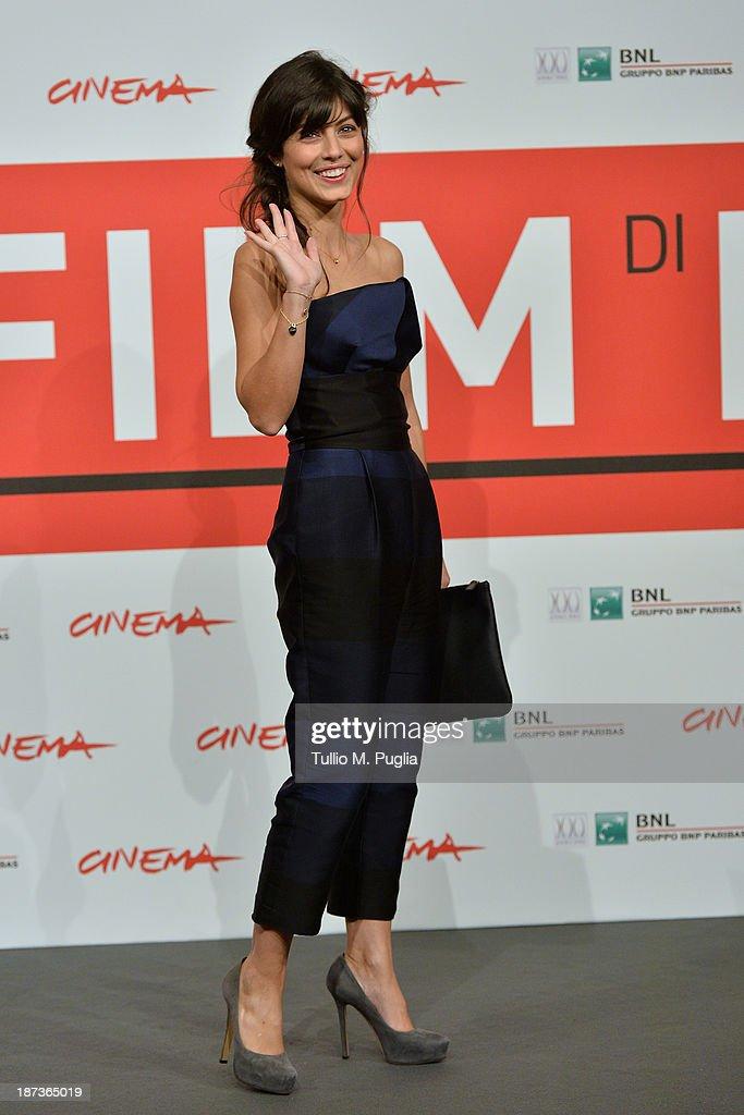 Alessandra Mastronard attends the 'L'Ultima Ruota Del Carro' Photocall during the 8th Rome Film Festival at the Auditorium Parco Della Musica on November 8, 2013 in Rome, Italy.