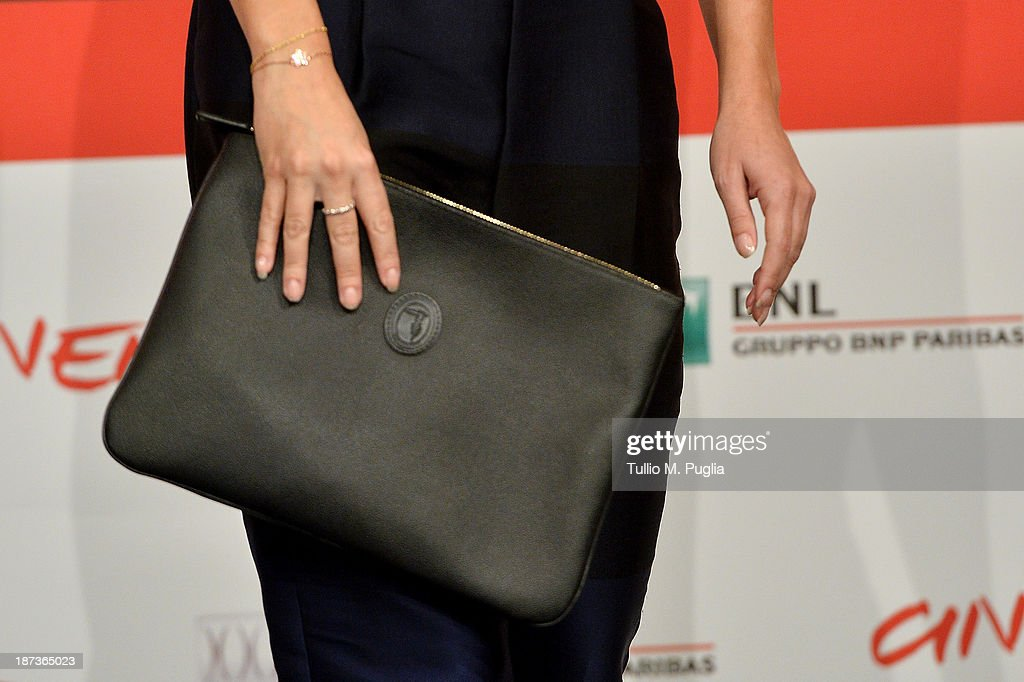 Alessandra Mastronard (detail) attends the 'L'Ultima Ruota Del Carro' Photocall during the 8th Rome Film Festival at the Auditorium Parco Della Musica on November 8, 2013 in Rome, Italy.