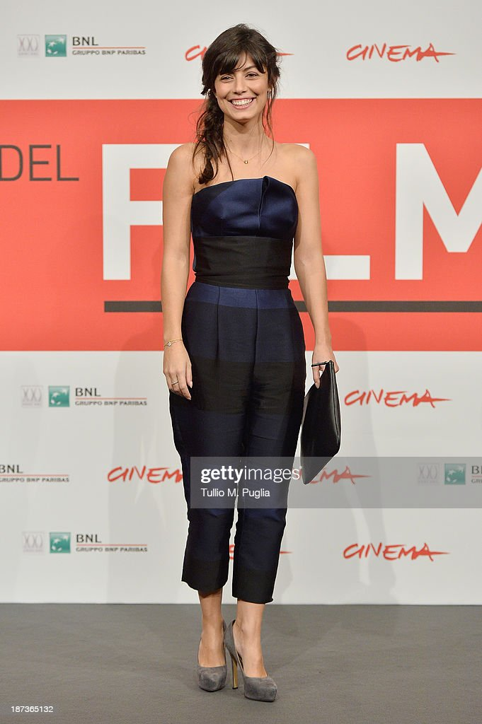 Alessandra Mastronard attends the 'L'Ultima Ruota Del Carro' Photocall during the 8th Rome Film Festival at the Auditorium Parco Della Musica on November 8, 2013 in Rome, Italy.