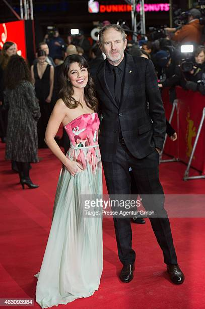 Alessandra Mastronardi and Anton Corbijn attend the 'Life' premiere during the 65th Berlinale International Film Festival at Zoo Palast on February 9...
