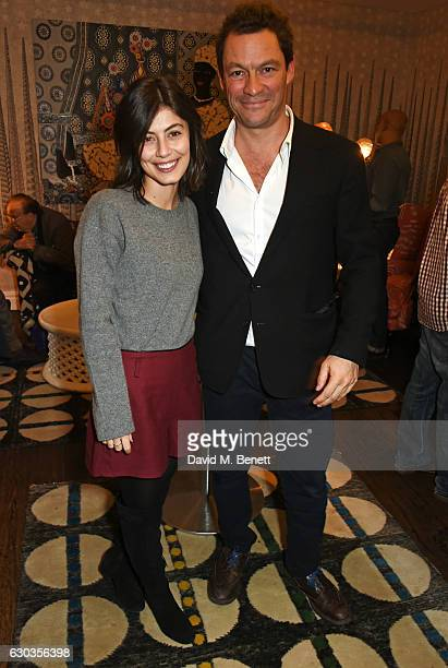 Alessandra Mastronardi and Dominic West attend a VIP screening of 'Sing Street' hosted by Harvey Weinstein and Dominic West at The Soho Hotel on...