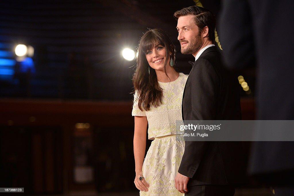 Alessandra Mastronardi and Liam McMahon attend the Opening Ceremony and 'L'Ultima Ruota Del Carro' Premiere during The 8th Rome Film Festival at...